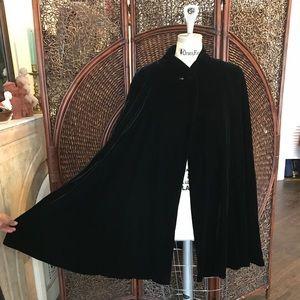 Vintage YSL velvet cape